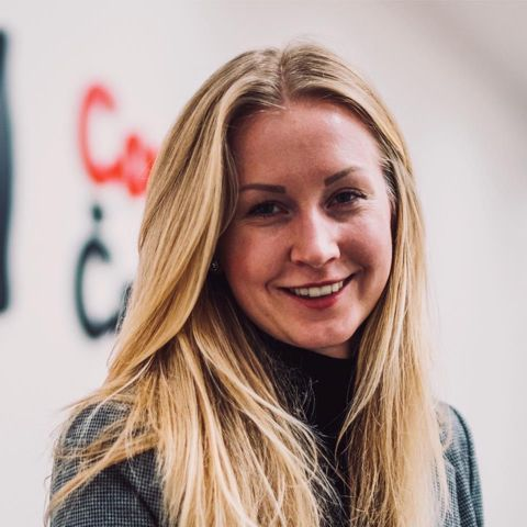 Anna Wojtkova at the Coca-Cola office